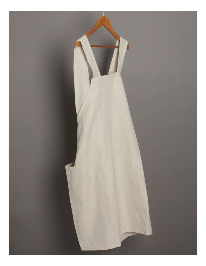 Linen Throw Over Apron - Natural image 2