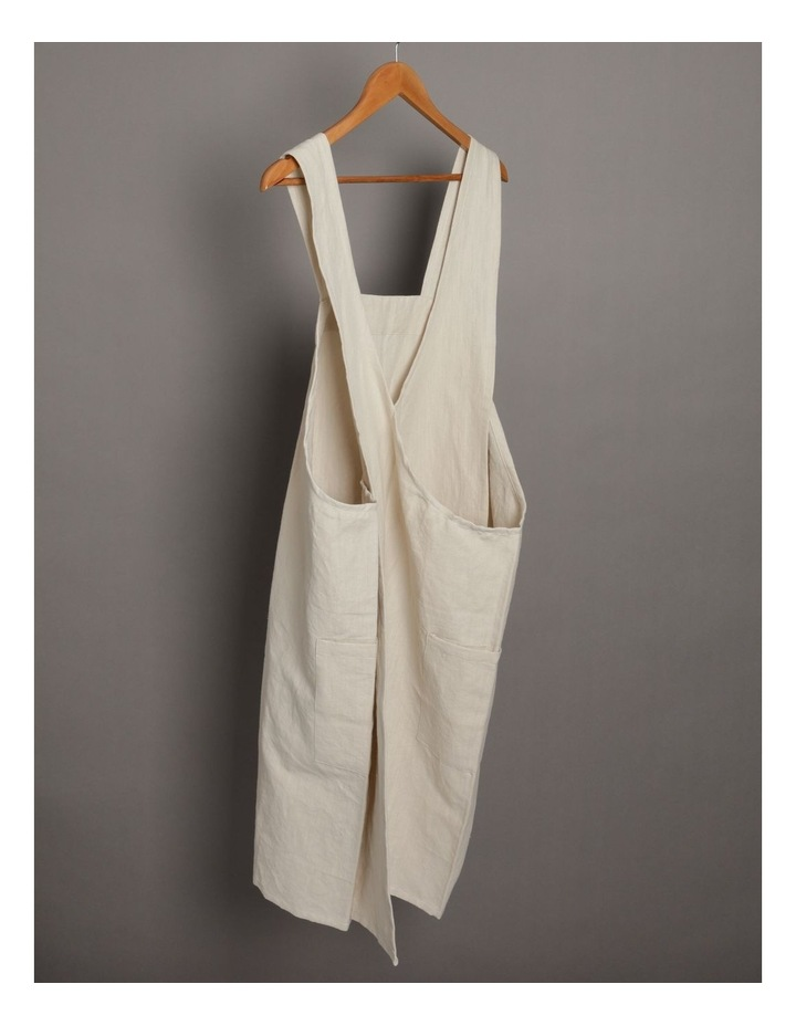 Linen Throw Over Apron - Natural image 3