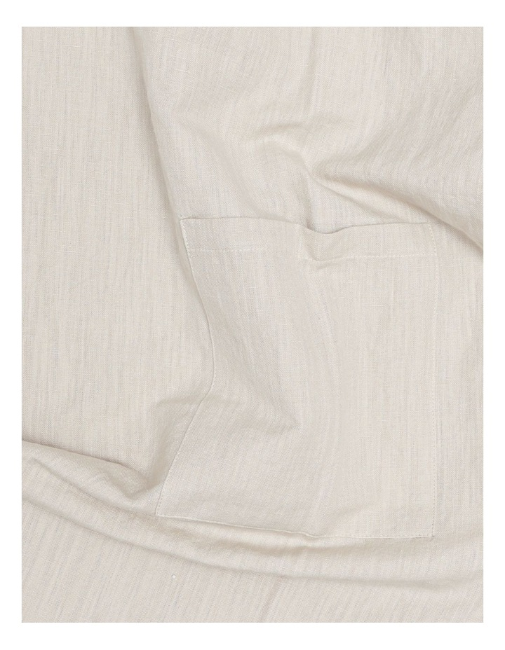 Linen Throw Over Apron - Natural image 4