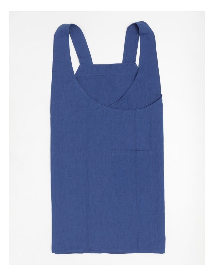 Linen Throw Over Apron - Navy image 1