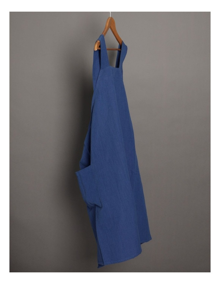 Linen Throw Over Apron - Navy image 2