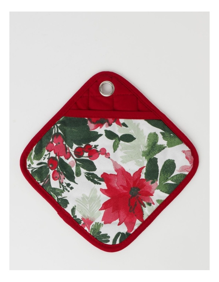 Christmas Floral Oven Mitt image 1