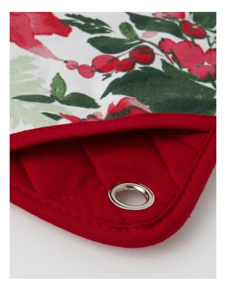 Christmas Floral Oven Mitt image 3