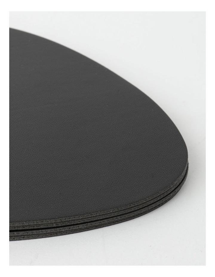 Leather-look Coaster Set of 4 - Black image 3