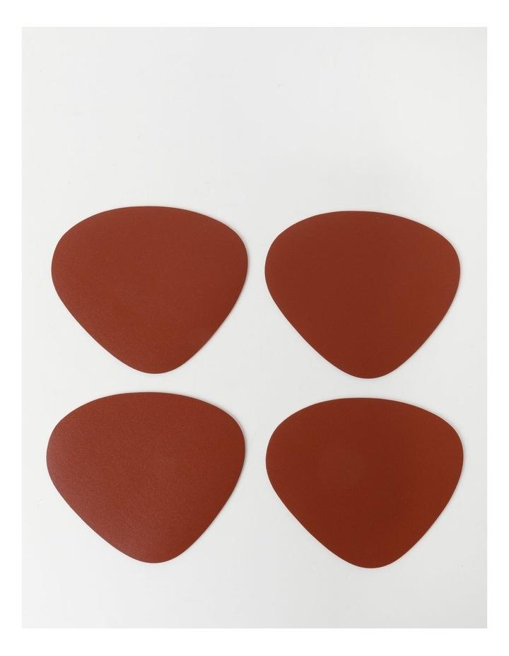 Leather-look Coaster Set of 4 - Brick image 1