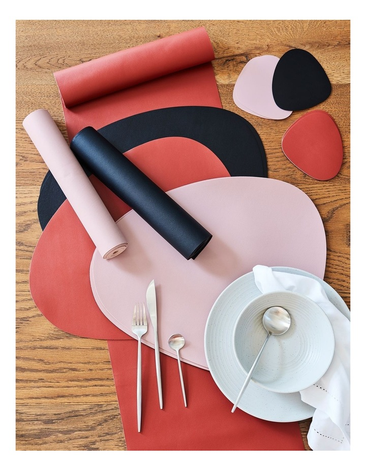 Leather-look Coaster Set of 4 - Brick image 2