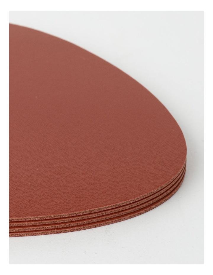 Leather-look Coaster Set of 4 - Brick image 3