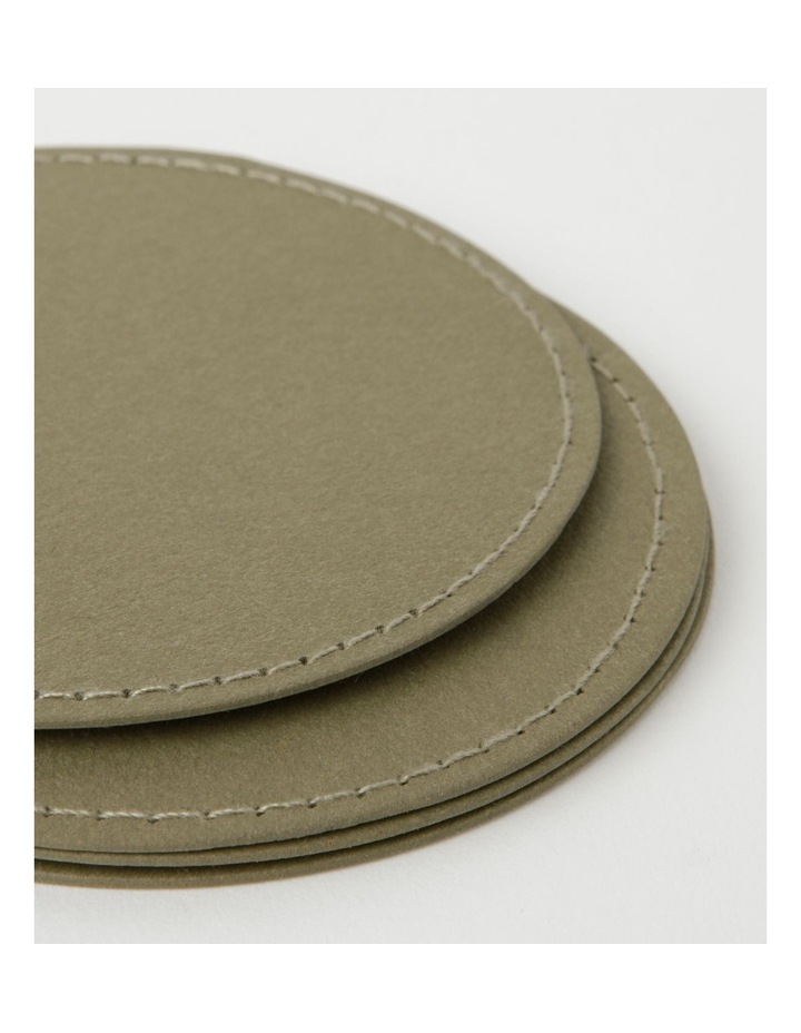 Washable Paper Coaster 4pk Olive image 3