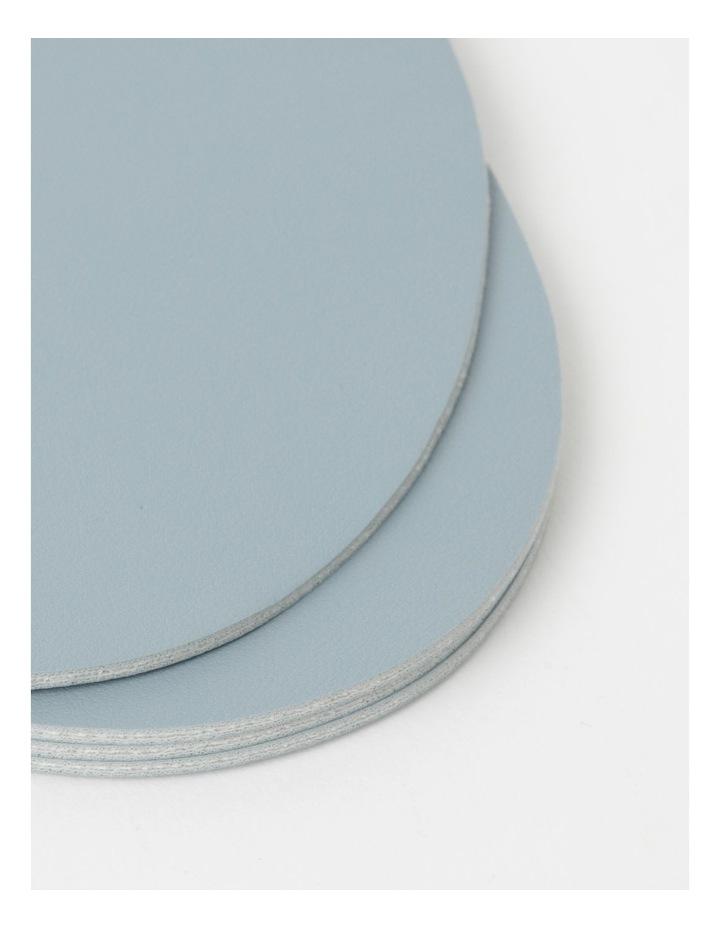 Leather Look Coaster Set of 4 - Spa Blue image 3