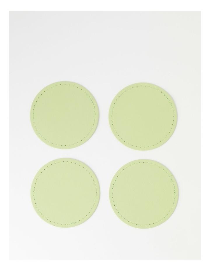 Washable Paper 4pk Coaster - Aloe image 1