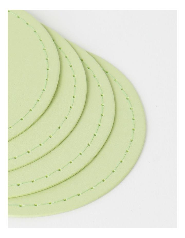 Washable Paper 4pk Coaster - Aloe image 2