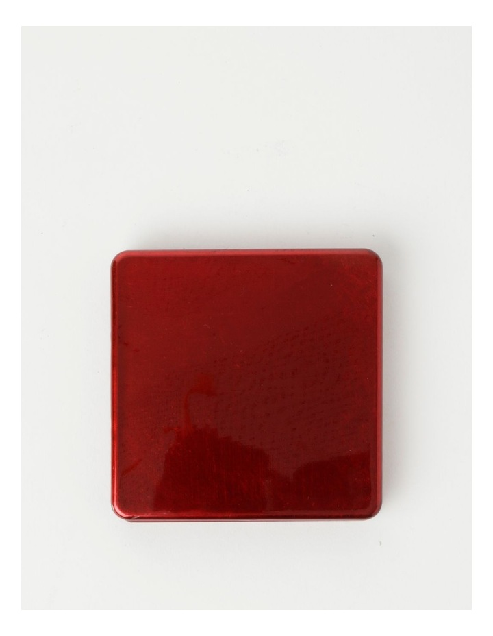 Red Glass Look Coasters image 2