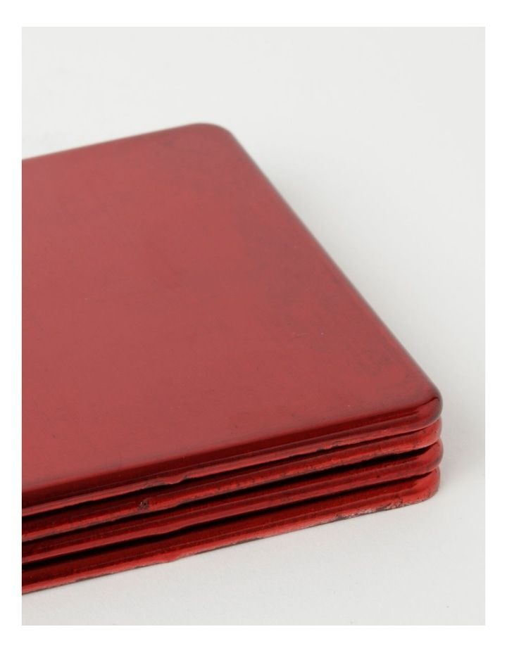 Red Glass Look Coasters image 3
