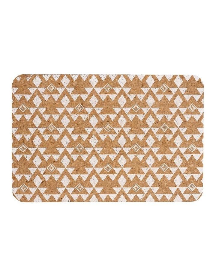 Arise White Printed Cork 4pk Placemat image 1