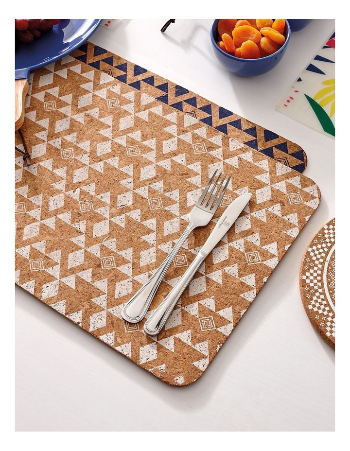 Arise White Printed Cork 4pk Placemat image 2