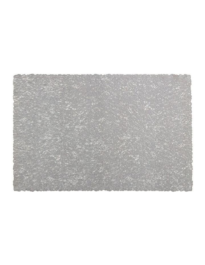 Glitz PVC Placemat 45x30cm Silver image 1