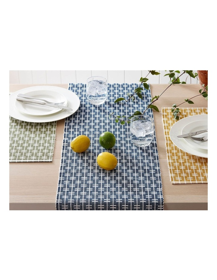 Eco Eden Ribbed Placemat Navy image 2