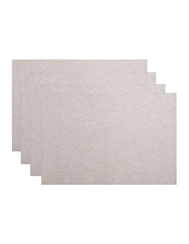 Shimmer Placemat Gold 33x48cm set of 4 image 1