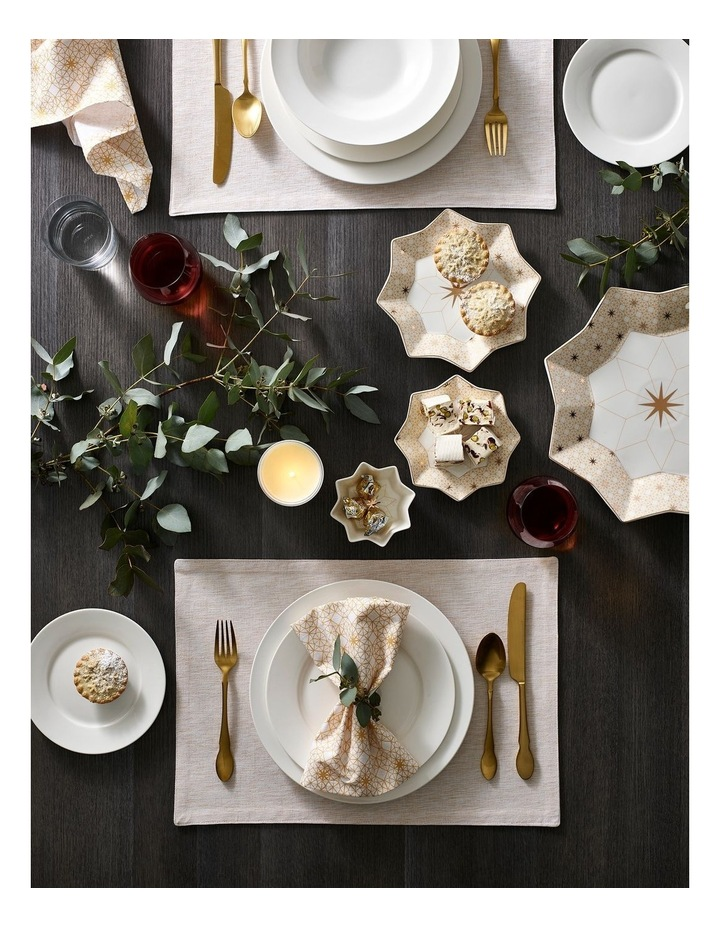 Shimmer Placemat Gold 33x48cm set of 4 image 2