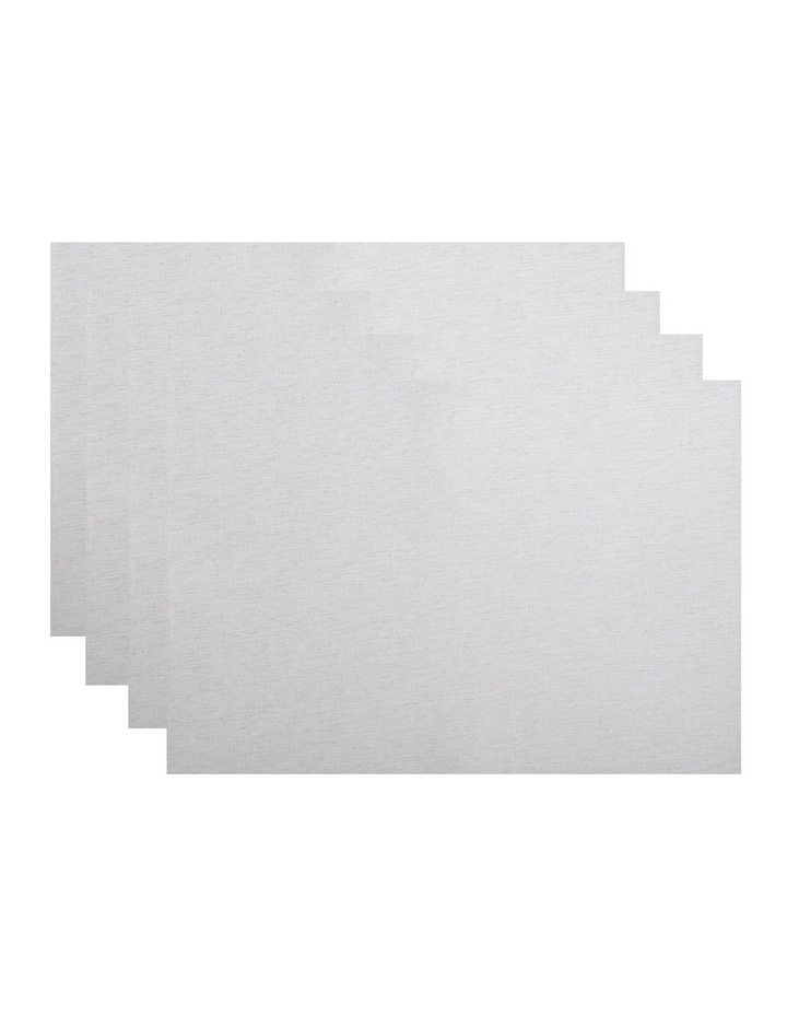 Shimmer Placemat Silver 33x48cm set of 4 image 1