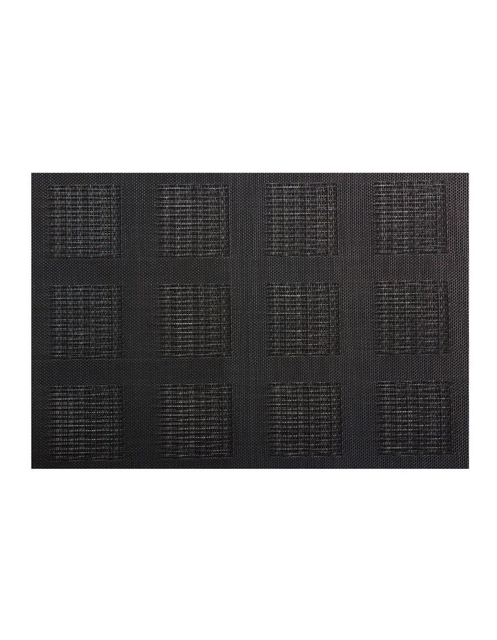 Placemat 45x30cm Black Squares image 1