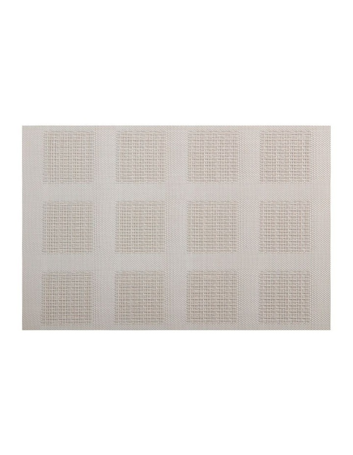 Placemat 45x30cm Taupe Squares image 1