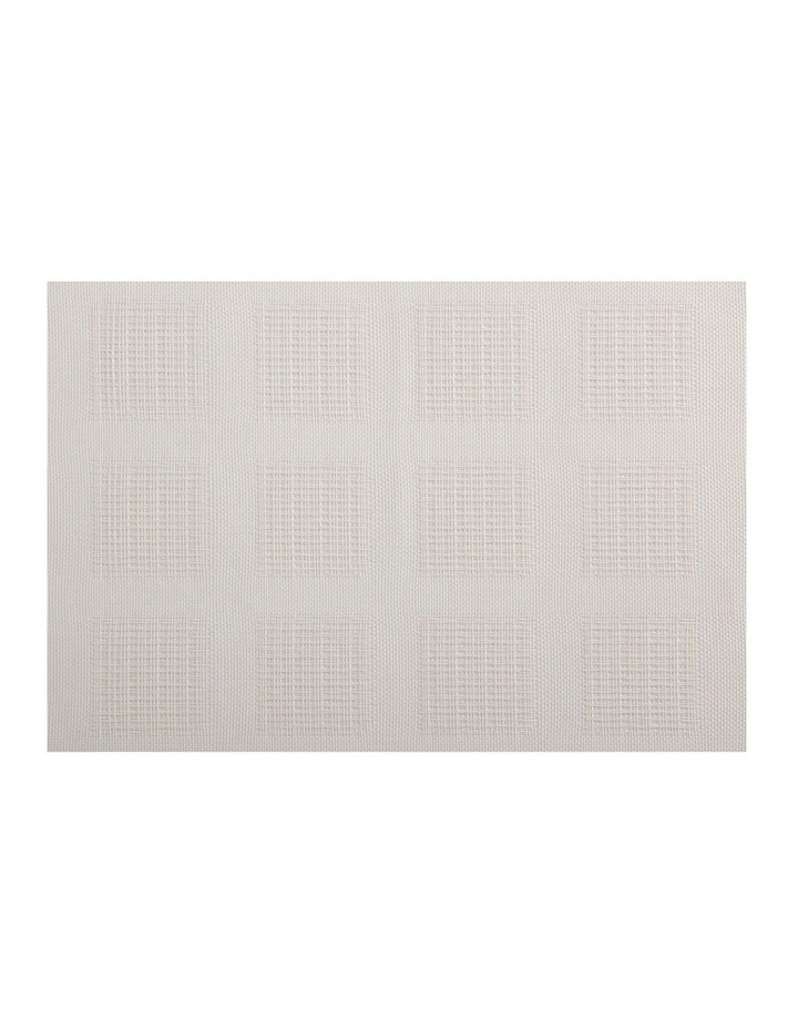 Placemat 45x30cm White Squares image 1