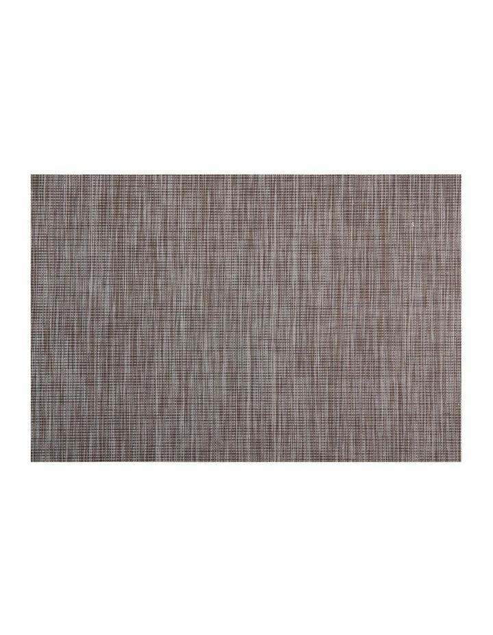 Placemat Lurex 45x30cm Taupe Stripe image 1