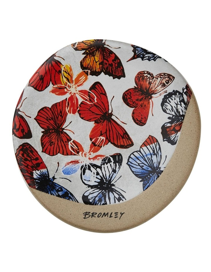 Bromley Round Coaster - Big Red Butterflies image 1