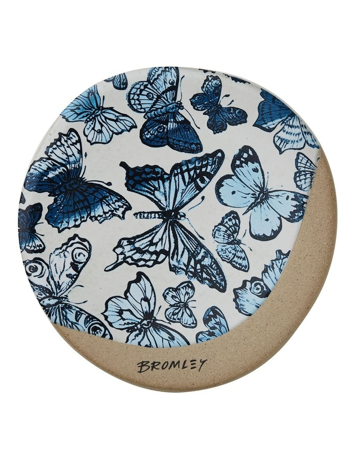Bromley Round Coaster - Big Blue Butterflies image 1