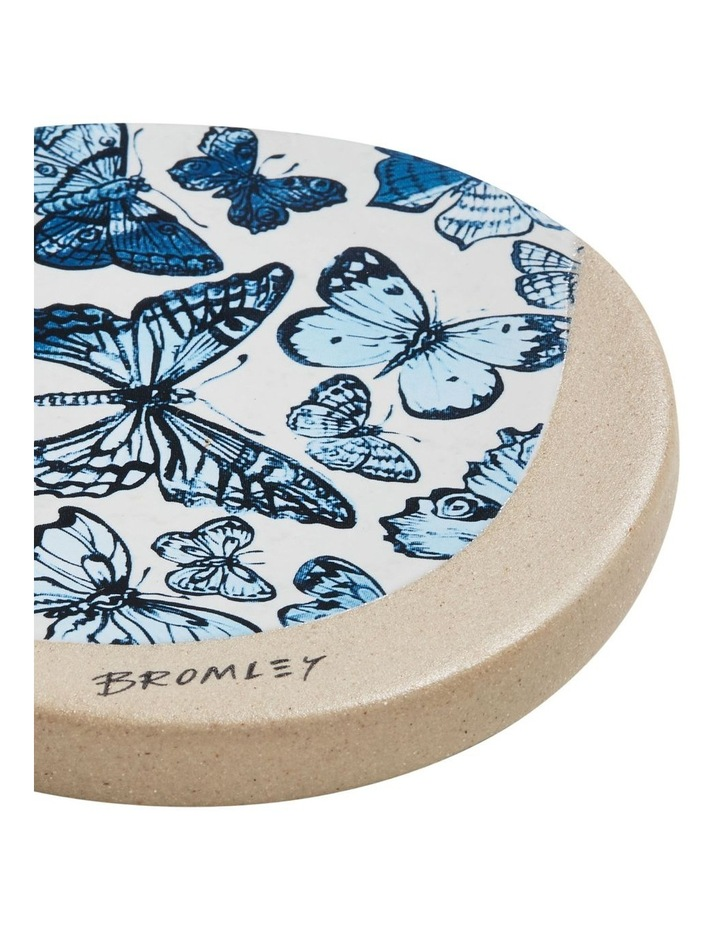 Bromley Round Coaster - Big Blue Butterflies image 2