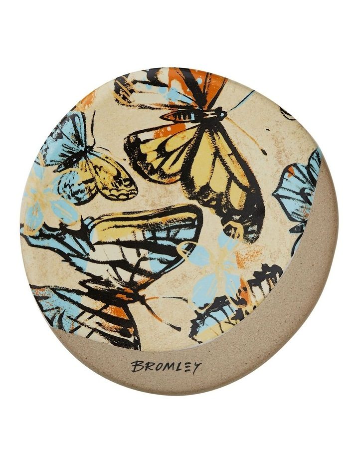 Bromley Round Coaster - Yellow Butterflies image 1
