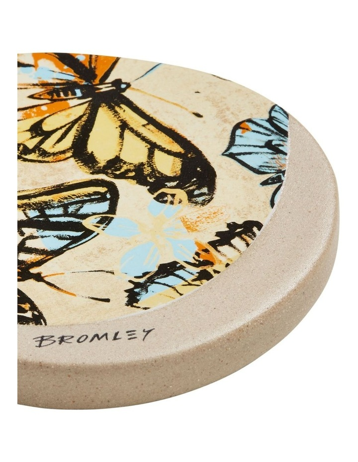 Bromley Round Coaster - Yellow Butterflies image 2