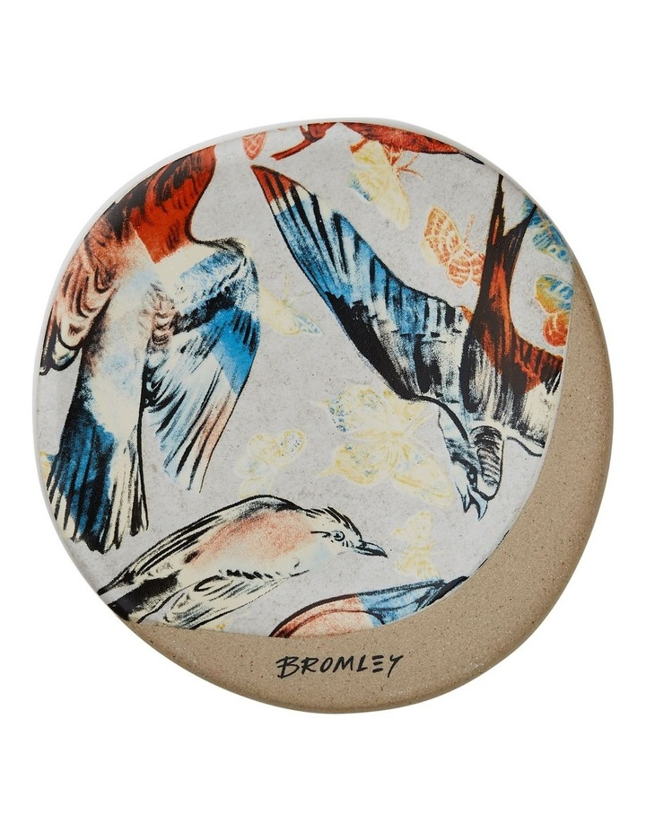 Bromley Round Coaster - Red & Blue Birds image 1