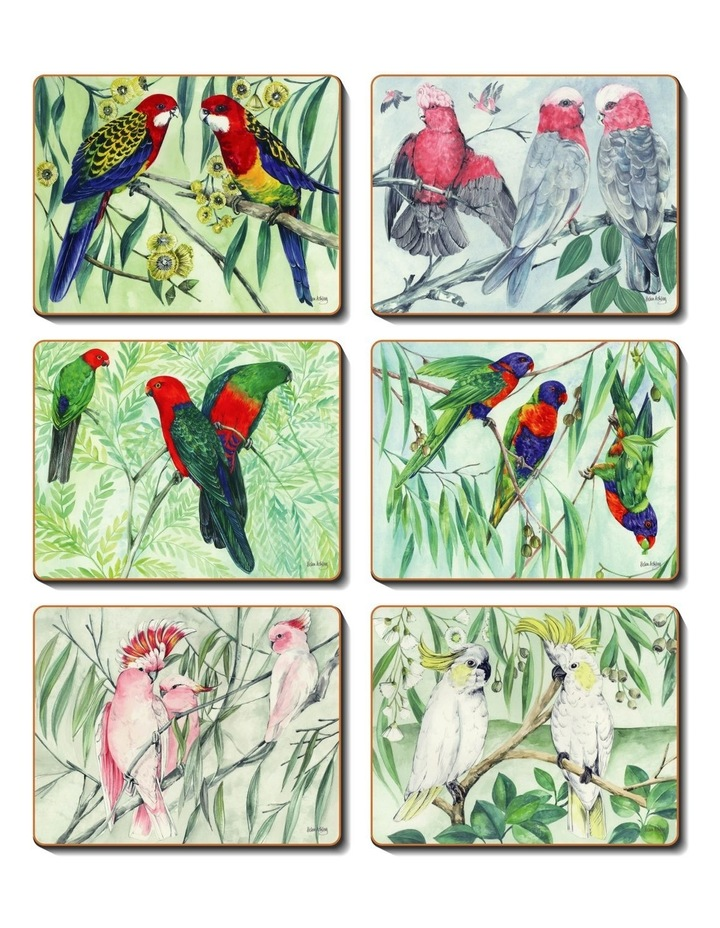 Australian Parrots set of 6 coasters image 1