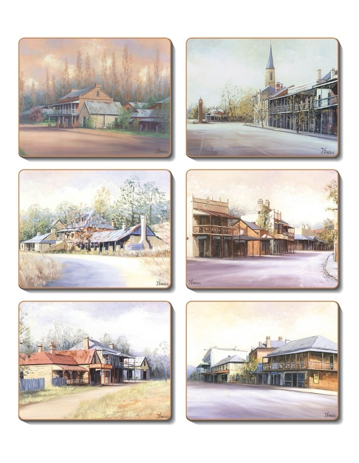 Country Towns set of 6 Coasters image 1
