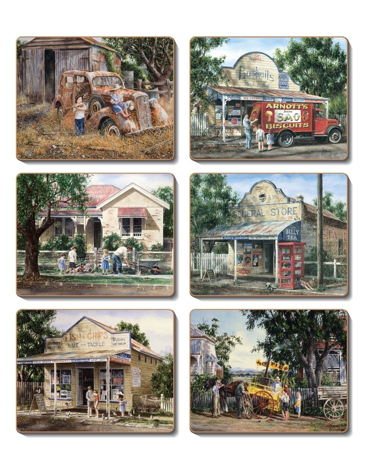 Times Now Past set of 6 Coasters image 1