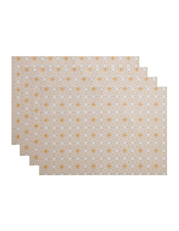 Starry Night Placemat Gold 33x48cm set of 4 image 1