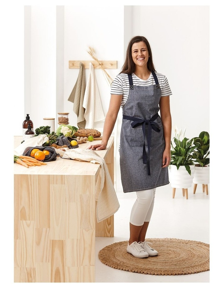 Eco Recycled Apron in Navy image 2