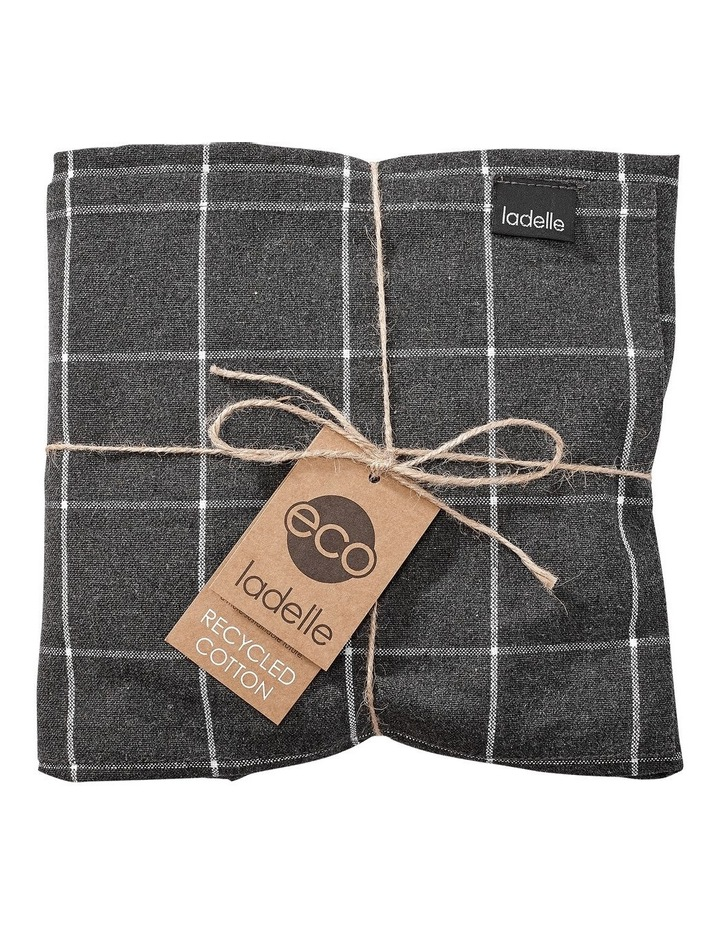 Recycled Cotton Kitchen Accessory Set Charcoal image 1