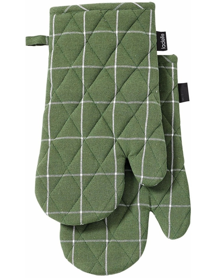 Recycled Cotton Kitchen Accessory Set Green image 3