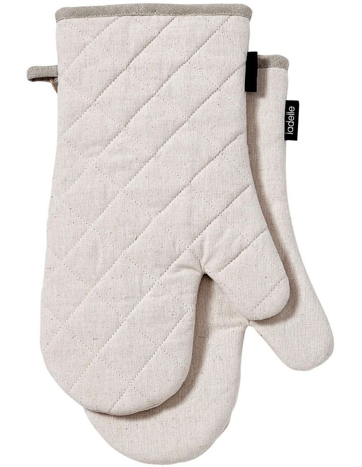 Eco Recycled 2pk Oven Mitt Natural image 1