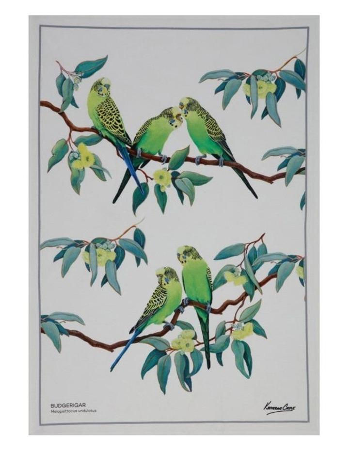 Birdsong Tea Towel 50x70cm Budgerigar image 1