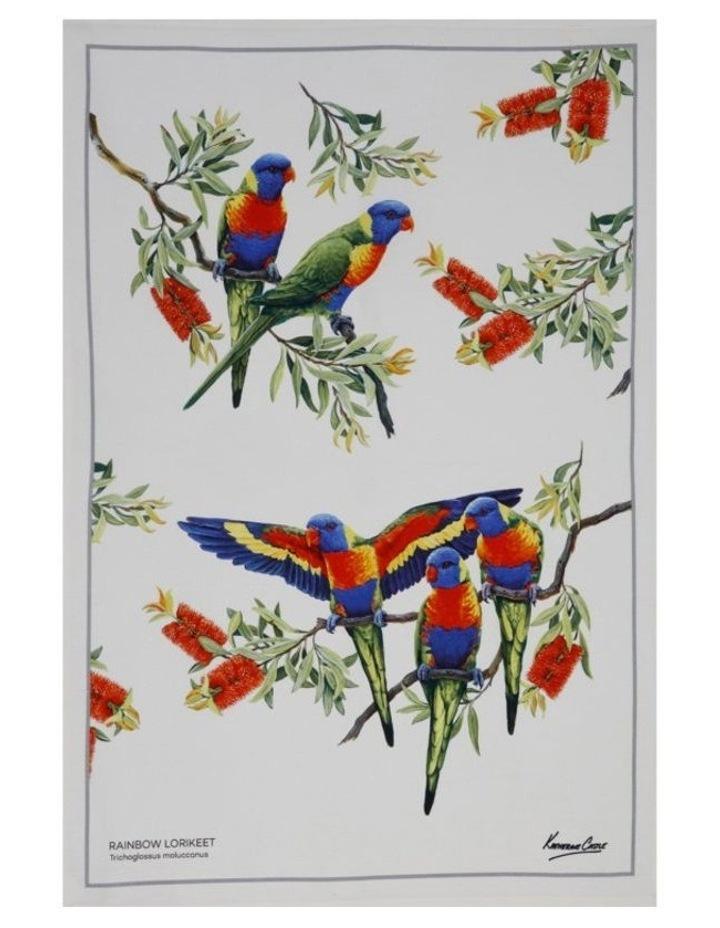 Birdsong Tea Towel 50x70cm Lorikeet image 1
