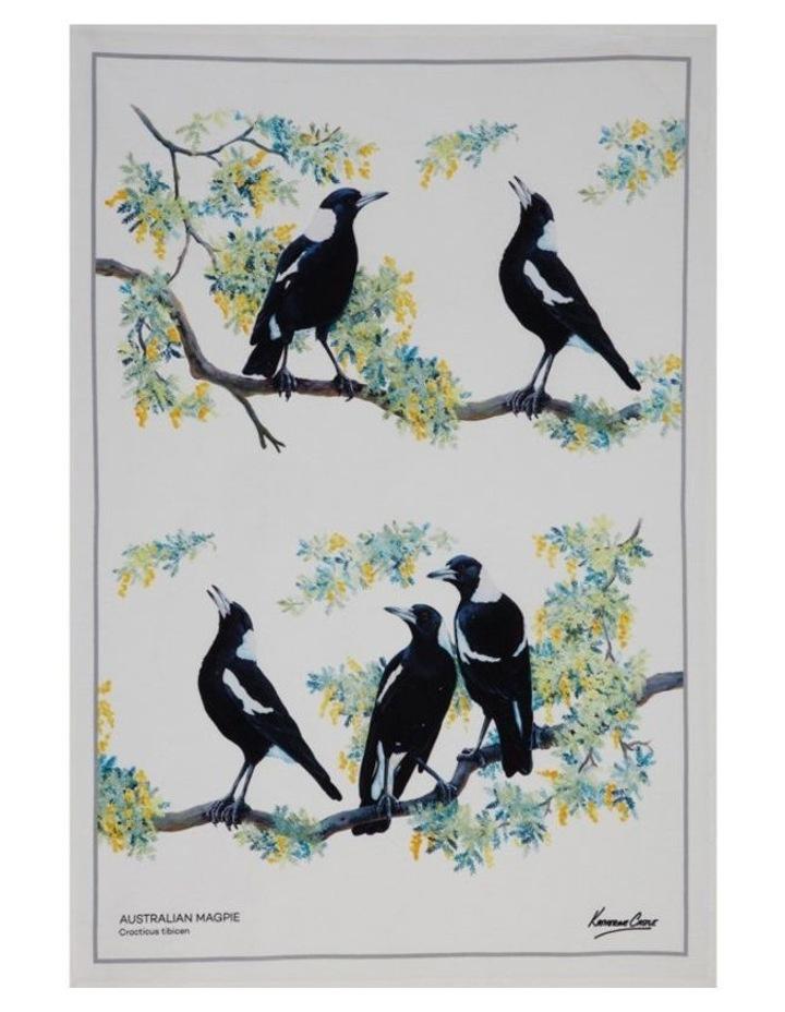 Birdsong Tea Towel 50x70cm Magpie image 1
