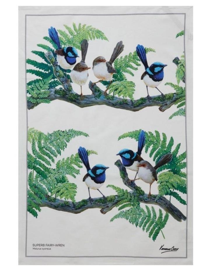 Birdsong Tea Towel 50x70cm Wren image 1