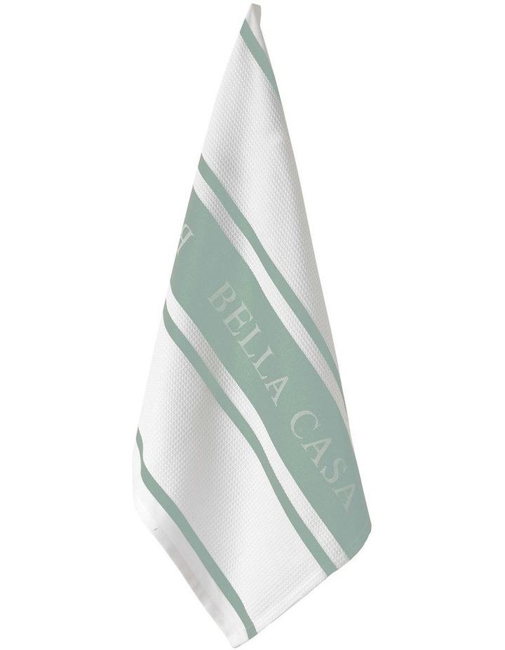 Bella Casa Frost Green Kitchen Towel image 1