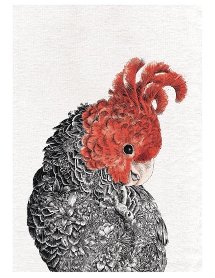 Marini Ferlazzo Birds Tea Towel 50x70cm Gang Gang image 1