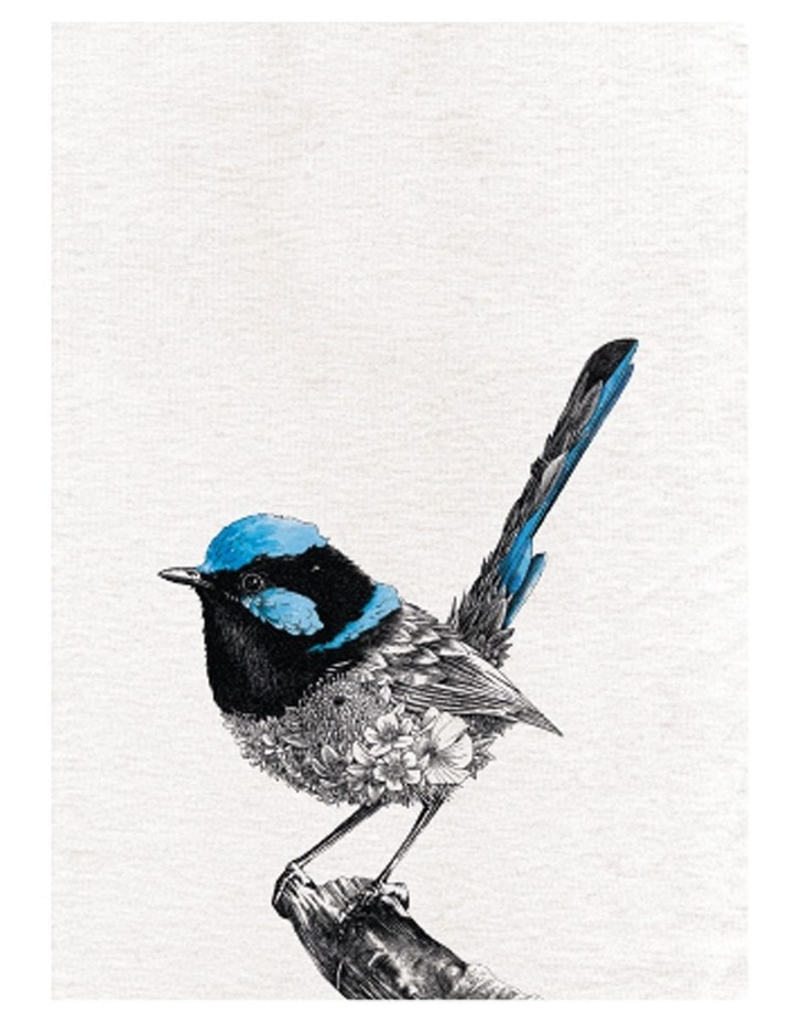 Marini Ferlazzo Birds Tea Towel 50x70cm Superb Fairy Wren image 1