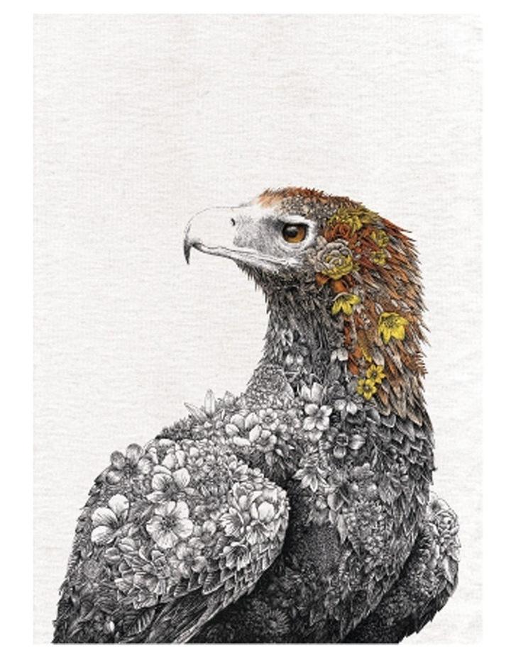Marini Ferlazzo Birds Tea Towel 50x70cm Wedgetail Eagle image 1